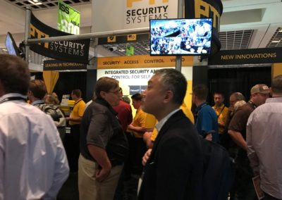 pti security systems booth at iss vegas 2017