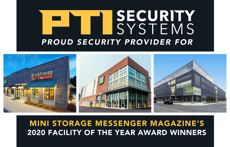 The Mini Storage Messenger's 2020 Facility of the Year Award Winners That Use PTI Security Systems